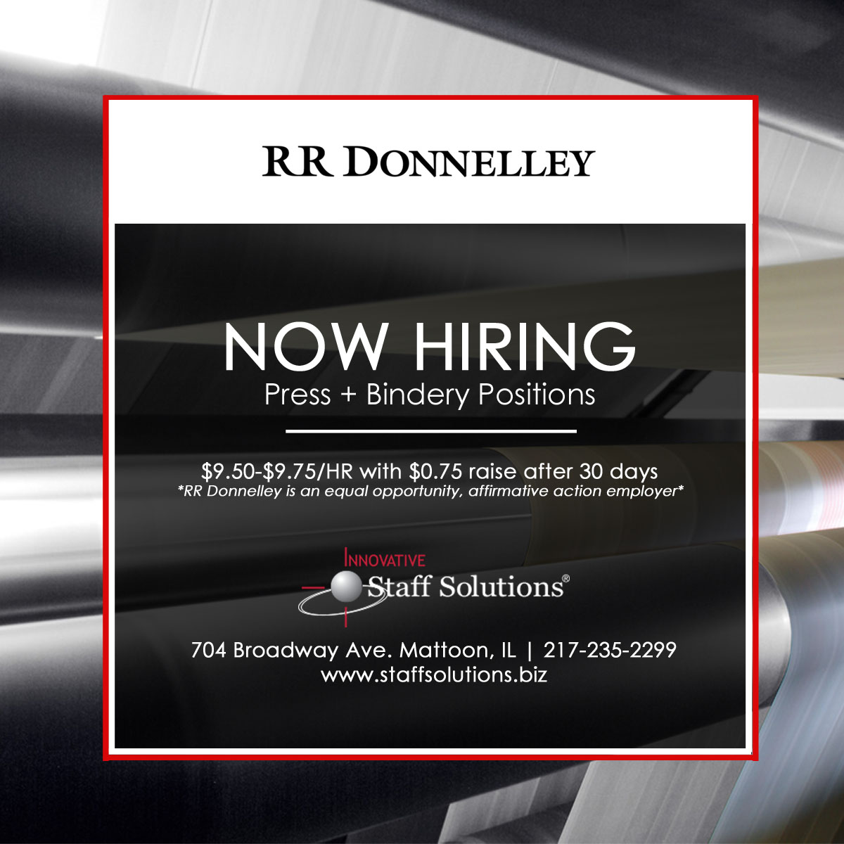 Job Bindery and Press Positions Innovative Staff Solutions